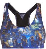 Lucas Hugh Liberty city-print sports bra