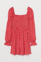 H&M Smock-detail Dress - Red