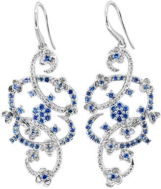 LeVian Le Vian 14K 2.07 Ct. Tw. Diamond & Sapphire Earrings
