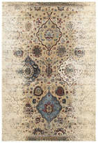 """Blue Area Newcastle Home Echo Antiqued Floral Traditions Ivory and Rug, 9'10""""x12'10"""""""