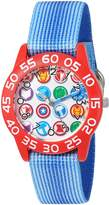 Marvel Boy's 'Avengers' Quartz Plastic and Nylon Automatic Watch, Color: (Model: W003241)