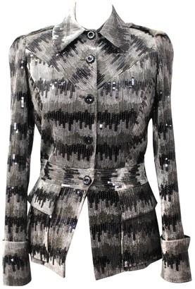 Diane von Furstenberg Grey Velvet Jackets