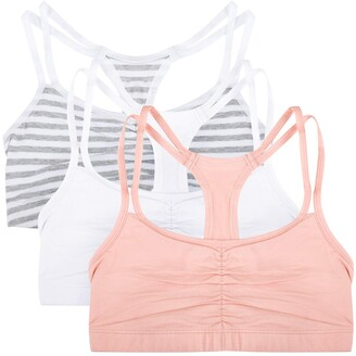 Fruit of the Loom Womens Spaghetti Strap Pullover Sports Bra 3-Pack