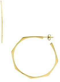 Argentovivo Geometric Hoop Earrings in 18K Gold-Plated Sterling Silver or Sterling Silver