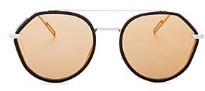 Christian Dior Men's Vintage Mirrored Brow Bar Round Sunglasses, 52mm