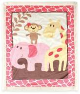 Baby Vision BabyVision® Luvable Friends® Safari Sherpa Blanket in Pink