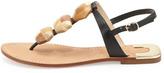 Diane von Furstenberg Dory Wooden-Accent Thong Sandal