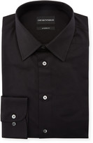 Emporio Armani Men's Modern-Fit Cotton-Stretch Dress Shirt, Black