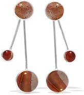 Pamela Love Large Satellite Silver Jasper Earrings - Bronze
