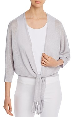 Nic+Zoe Gleaming Tie-Front Cardigan