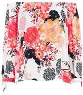Wallis Cream Tie Sleeve Bardot Top