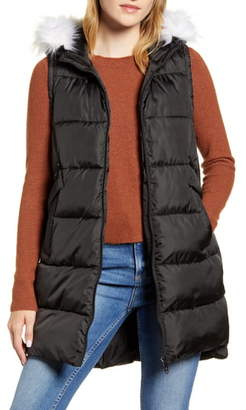 Sam Edelman Faux Fur Trim Hooded Puffer Vest