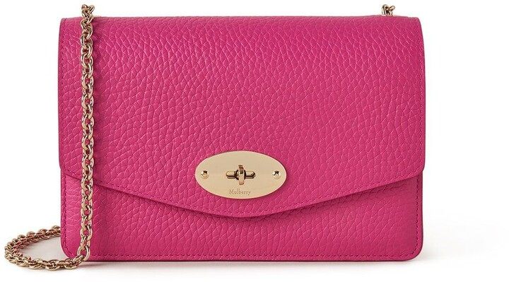 Mulberry Small Darley Pink Heavy Grain