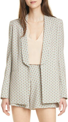 Alice + Olivia Skye Strong Shoulder Boyfriend Blazer