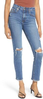 Nobody Denim True High Waist Ripped Slim Ankle Jeans