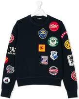 DSQUARED2 embroidered patch sweater