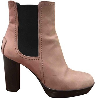 Tod's Pink Leather Ankle boots