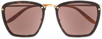 Gucci Square Tinted Sunglasses