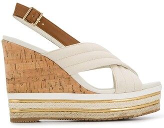 Hogan open-toe wedge sandals