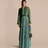 Burberry Paisley Print Panama Silk Dressing Gown Coat