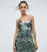 Boohoo Petite Gold Chain Sequin Dress