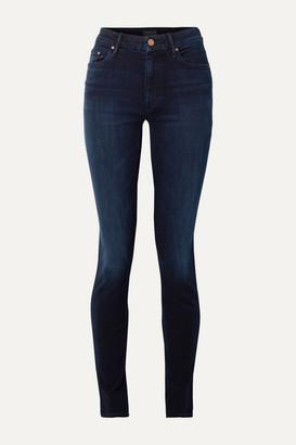 Mother The Super Looker Mid-rise Skinny Jeans - Dark denim