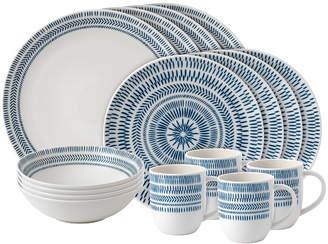 ED Ellen Degeneres Crafted by Royal Doulton Chevron 16-Piece Dinnerware Set