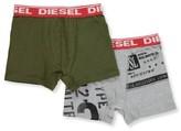 Diesel Big Boys' 2-Pack Boxer Briefs (Sizes 8 - 20) - charcoal/black, s