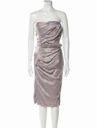 Christian Dior 2009 Mini Dress Grey