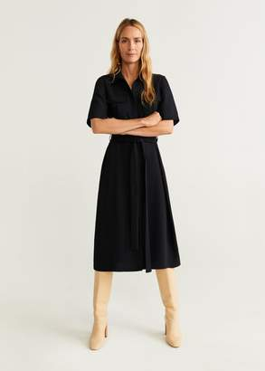 MANGO Pockets shirt dress