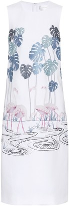 Victoria Victoria Beckham Embroidered crepe dress