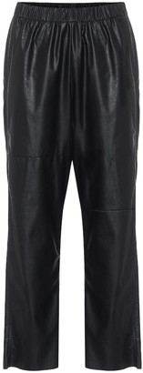 MM6 MAISON MARGIELA Faux-leather relaxed pants