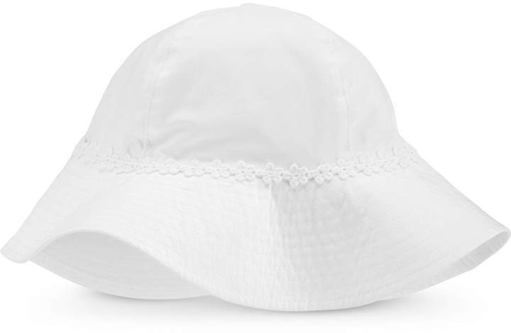 b810bde26 Carter Baby Girls Flower-Trim Cotton Hat
