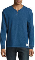 Lucky Brand Y-Neck Long-Sleeve Cotton Tee