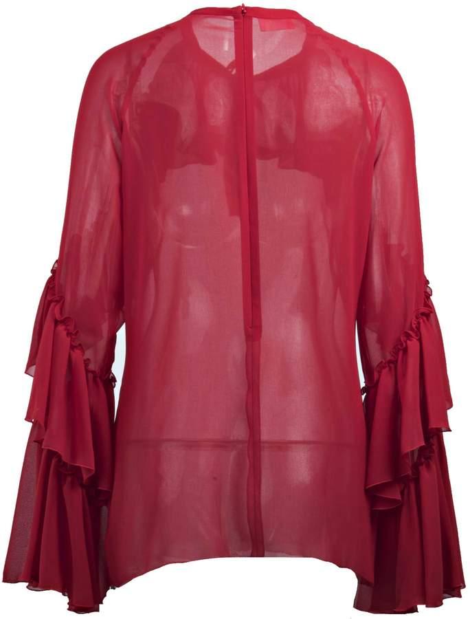 Giamba Sequined Long Sleeved Blouse