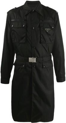 Prada military trench coat