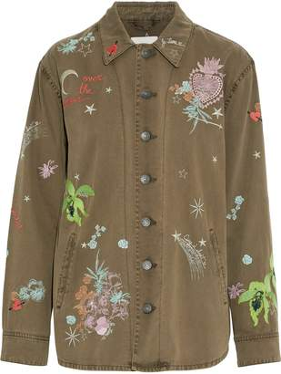 Cinq à Sept Whimsical Canyon Embroidered Cotton-twill Jacket