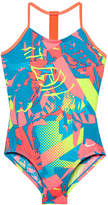 Nike Floral One Piece Swimsuit Big Kid Girls