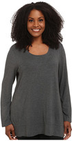 Lysse Plus Size Scoop Drape Top