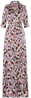 Erdem Karissa floral-printed silk gown
