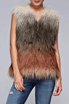Love Stitch Faux Fur Ombre Vest