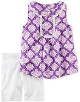 Carter's 2-Pc. Printed Fringe Tunic and Shorts Set, Little Girls (2-6X) and Big Girls (7-16)