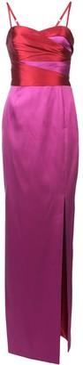 Marchesa Colour-Block Column Gown