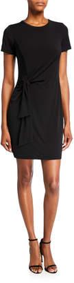 MICHAEL Michael Kors Solid Short-Sleeve Side-Tie Mini Dress