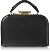 Sophie Hulme Black Leather Whistle Case Bag