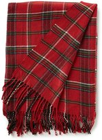 Southern Living Holiday Lux Collection Forsyth Fringed Plaid Throw