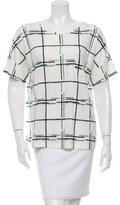 Tory Burch Linen Printed T-Shirt