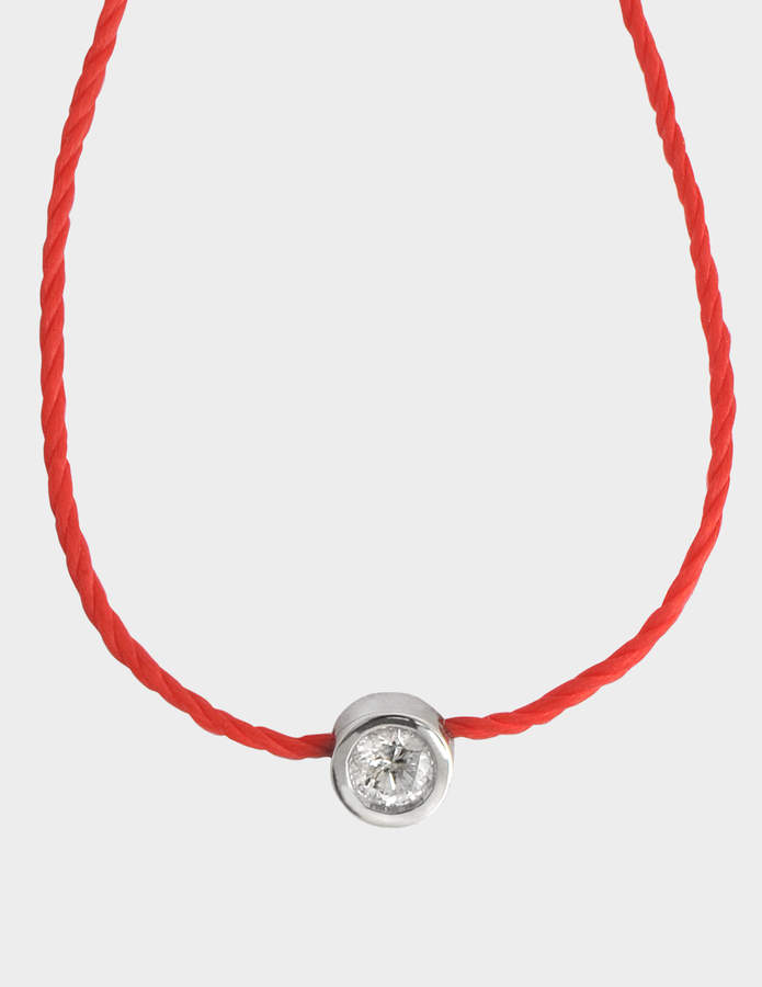 Vanessa Tugendhaft Solitaire Identity Necklace on thread