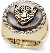 Thalia Sodi Gold-Tone Leopard Head Stretch Ring, Only at Macy's