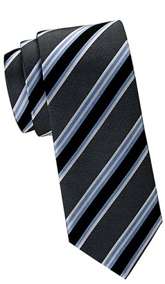 Saks Fifth Avenue Made In Italy Stripe Silk Tie